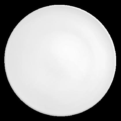 Life Servierplatte rund flach 33 cm weiß