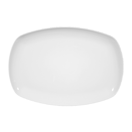 Sketch Basic Platte eckig 31 cm weiß