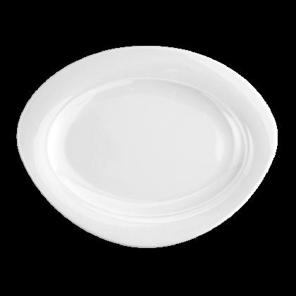 Trio Platte oval 31 cm weiß