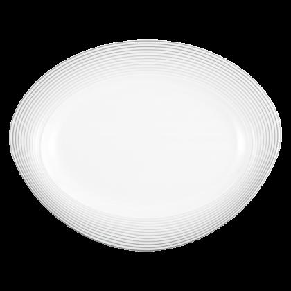 Trio Platte oval 31 cm Nero