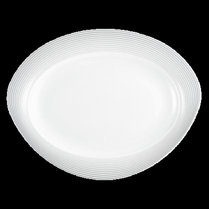 Trio Platte oval 35 cm Nero