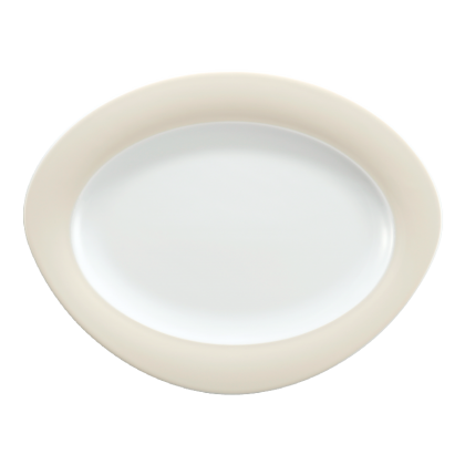 Trio Platte oval 31 cm Vanille