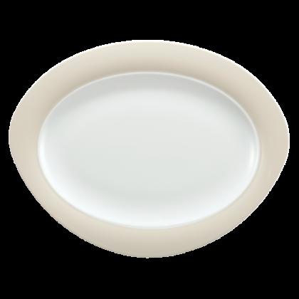 Trio Platte oval 35 cm Vanille