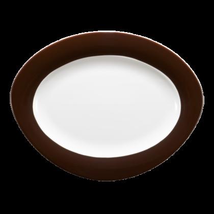 Trio Platte oval 31 cm Zartbitter
