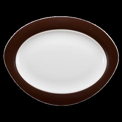 Trio Platte oval 35 cm Zartbitter
