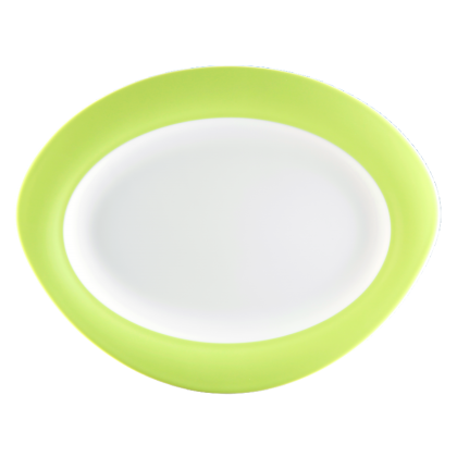 Trio Platte oval 31 cm Apfelgrün
