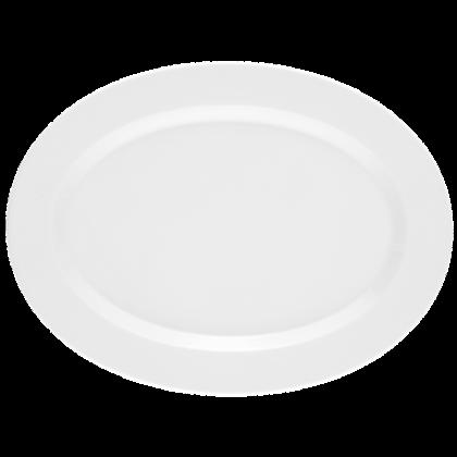 No Limits Platte oval 35 cm weiß