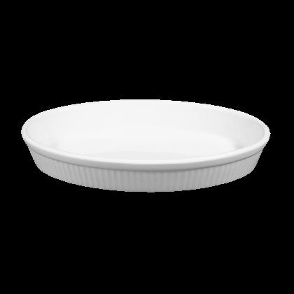 Lukullus Backform oval 24 cm weiß