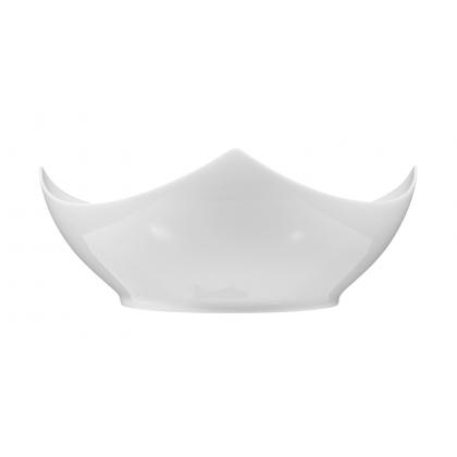 Savoy Schale eckig 22 cm weiß