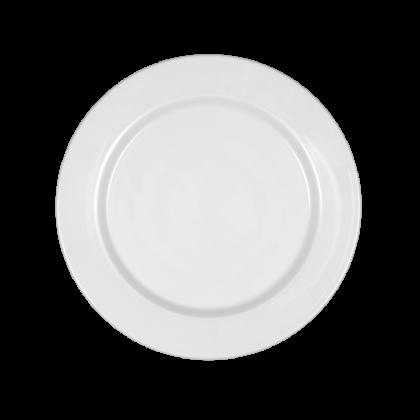 Mandarin Teller flach rund 23 cm weiß