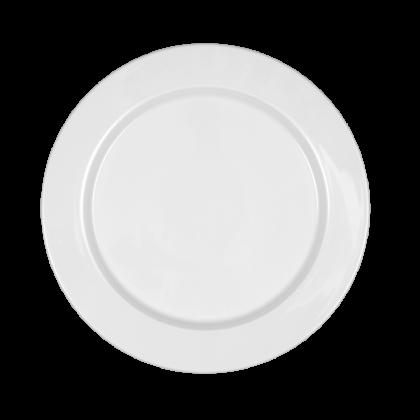 Mandarin Teller flach rund 26 cm weiß