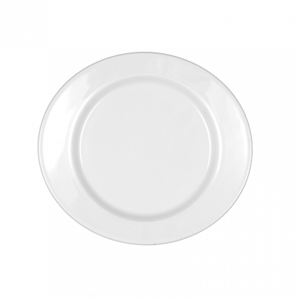 Mandarin Teller flach oval 18 cm weiß