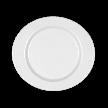 Mandarin Teller flach oval 24 cm weiß