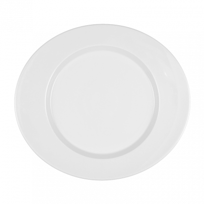 Mandarin Teller flach oval 34 cm weiß