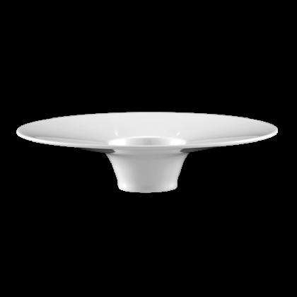 Mandarin Eventteller tief oval 22 cm weiß