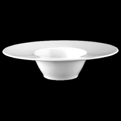 Mandarin Eventteller tief oval 25 cm weiß