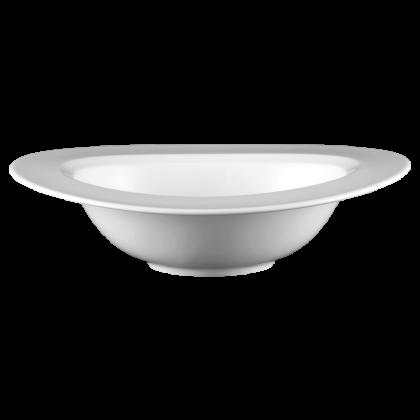 Mandarin Bowl 28 cm Fahne weiß