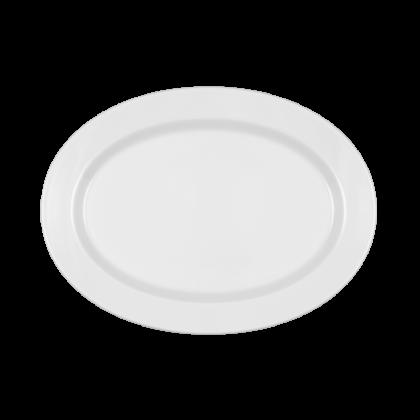 Mandarin Platte oval 28 cm weiß