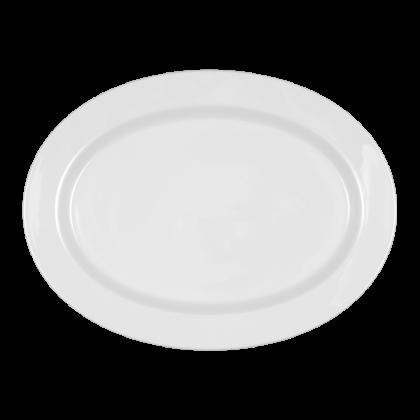 Mandarin Platte oval 31 cm weiß