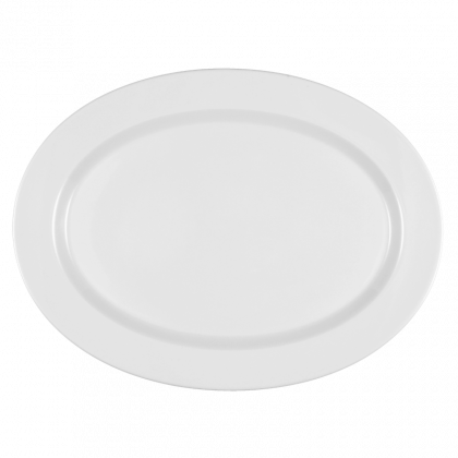 Mandarin Platte oval 35 cm weiß