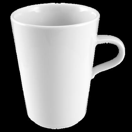 Mandarin Milchkaffeetasse konisch 0,37 weiß