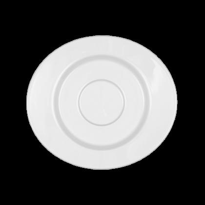 Mandarin Untertasse zur Moccatasse oval weiß