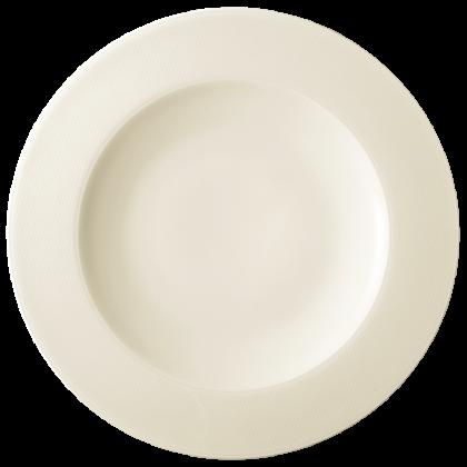 Diamant Teller flach 33 cm cream
