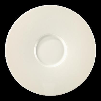 Diamant Eventteller flach rund 25 cm cream