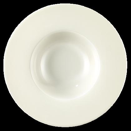Diamant Eventteller tief rund 26 cm cream