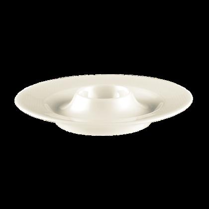 Diamant Eierbecher mit Ablage cream
