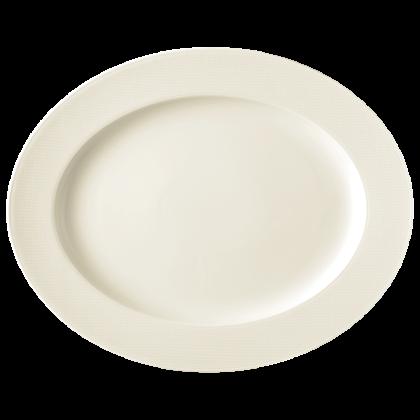 Diamant Platte oval 38 cm cream