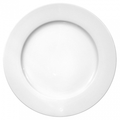 Meran Teller flach 33 cm weiß