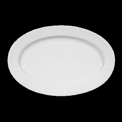 Meran Platte oval 25 cm weiß