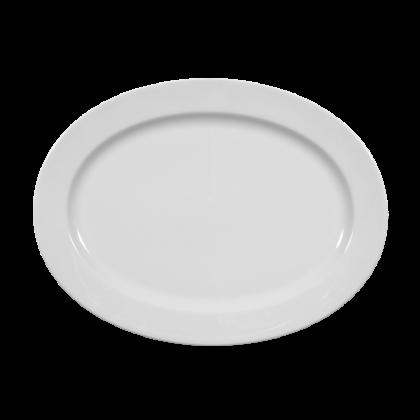 Meran Platte oval 31 cm weiß