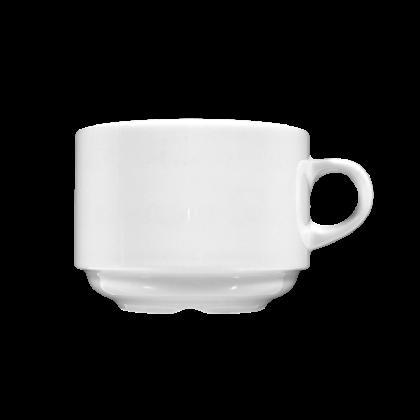 Meran Milchkaffeetasse weiß