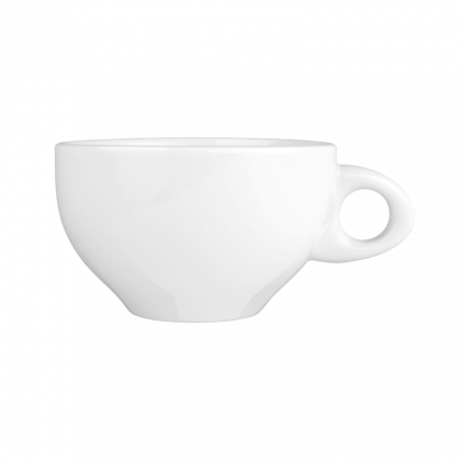 Meran Milchkaffeetasse Organic 0,41 l weiß