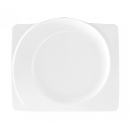 Paso Frühstücksteller eckig 25 cm weiß