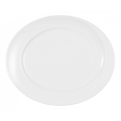 Paso Platte oval 31 cm weiß