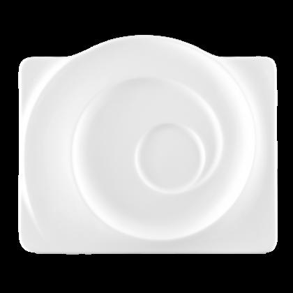Paso Untertasse eckig 19,5 cm weiß