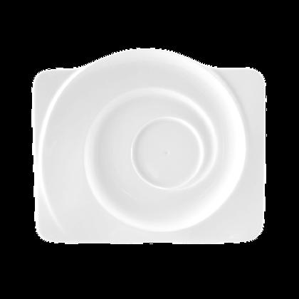 Paso Untertasse eckig Hotel 19,5 cm weiß