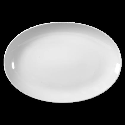 Rondo / Liane Platte oval 35 cm weiß