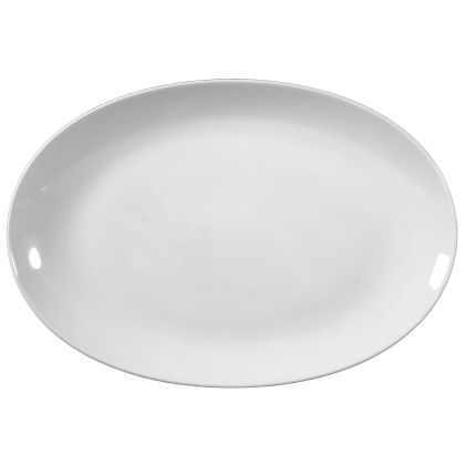 Rondo / Liane Platte oval 38 cm weiß