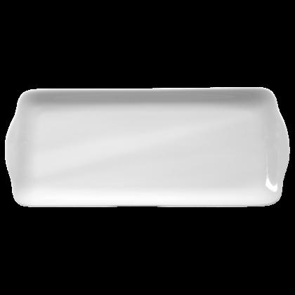 Rondo / Liane Kuchenplatte eckig 35 cm weiß