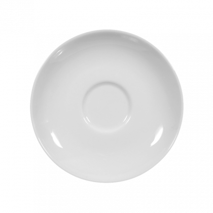 Rondo / Liane Untertasse zur Moccatasse 12 cm weiß