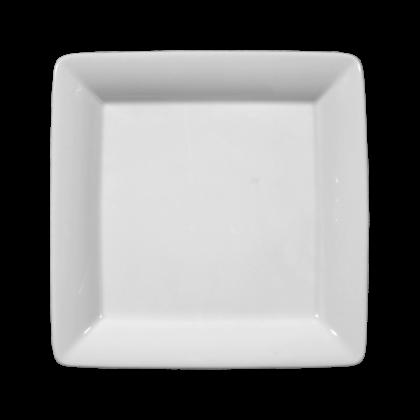 Buffet-Gourmet Platte 5140 16x16 cm weiß