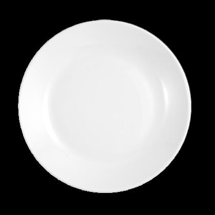 Modern Life Teller flach rund 25,5 cm weiß