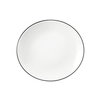 Modern Life Frühstücksteller oval 5234  21 cm Black Line