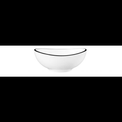 Modern Life Bowl oval 9 cm Black Line
