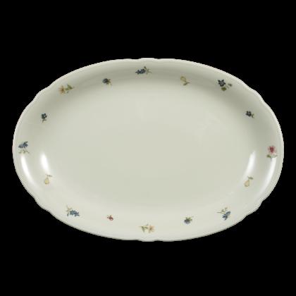 Marie-Luise Platte oval 31 cm Blumenzauber