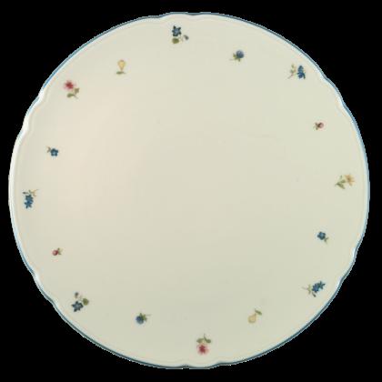 Marie-Luise Tortenplatte 30 cm Streublume blauer Rand
